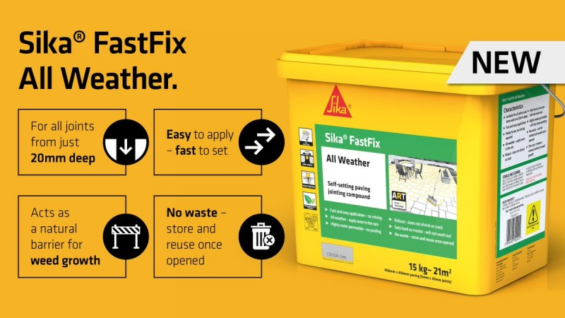 NOW IN STOCK - SIKA FASTFIX ALL WEATHER JOINTING COMPOUND!