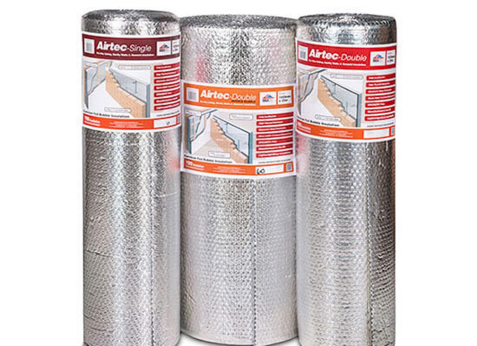Airtec Double Bubble Foil Amp Polyethylene Insulation 25m Roll
