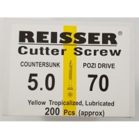Reisser Cutter Screw CSK Yellow 5.0 x 70mm