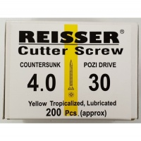 Reisser Cutter Screw CSK Yellow 4.0 x 30mm
