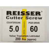 Reisser Cutter Screw CSK Yellow 5.0 x 60mm
