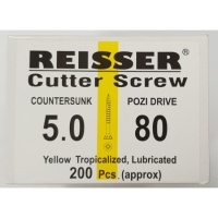 Reisser Cutter Screw CSK Yellow 5.0 x 80mm