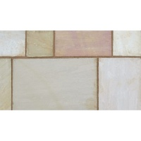 Marshalls Indian Sandstone Sunset Buff Project Pack 18.3m2 18mm Calibrated