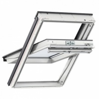 Velux GGU 0066 White Polyurethane Centre-Pivot Roof Window