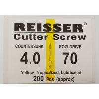 Reisser Cutter Screw CSK Yellow 4.0 x 70mm