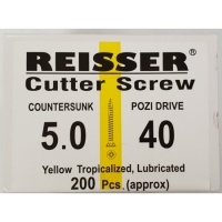 Reisser Cutter Screw CSK Yellow 5.0 x 40mm