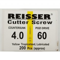 Reisser Cutter Screw CSK Yellow 4.0 x 60mm