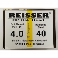 Reisser R2 Wood Screw CSK Yellow 4.0 x 40mm