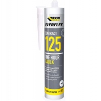 Everbuild Everflex 125 One Hour Caulk, White, 300 ml