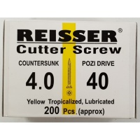 Reisser Cutter Screw CSK Yellow 4.0 x 40mm