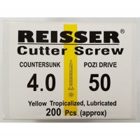 Reisser Cutter Screw CSK Yellow 4.0 x 50mm
