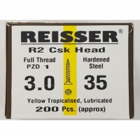 Reisser R2 Wood Screw CSK Yellow 3.0 x 35mm