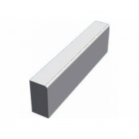 125mm x 255mm Bullnosed Straight Kerb