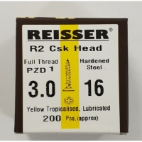 Reisser R2 Wood Screw CSK Yellow 3.0 x 16mm