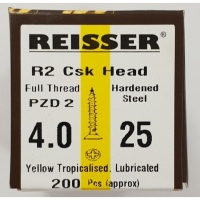 Reisser R2 Wood Screw CSK Yellow 4.0 x 25mm