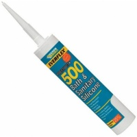 Everbuild Everflex 500 Bath and Sanitary Silicone WHITE 295 ml